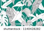 vector tropical seamless... | Shutterstock .eps vector #1140428282