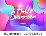 summer sale background layout... | Shutterstock .eps vector #1140433508