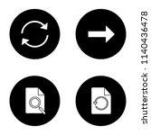 ui ux glyph icons set. refresh...