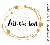 all the best   message  quote ... | Shutterstock .eps vector #1140440915