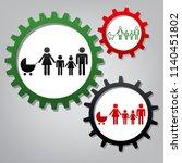 family sign illustration.... | Shutterstock .eps vector #1140451802