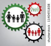 family sign. vector. three... | Shutterstock .eps vector #1140451838