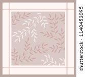feminine scarf pattern with... | Shutterstock .eps vector #1140453095