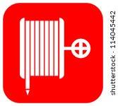 fire hose reel sign  vector... | Shutterstock .eps vector #114045442