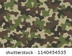 camouflage seamless pattern.... | Shutterstock .eps vector #1140454535