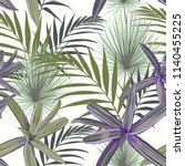 seamless pattern with exotic... | Shutterstock .eps vector #1140455225