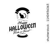 happy halloween. typography set....   Shutterstock .eps vector #1140456365
