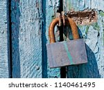 door lock for key closing ...   Shutterstock . vector #1140461495