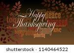 graphic typographic montage... | Shutterstock .eps vector #1140464522