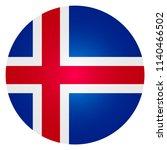 flag circle of icelands | Shutterstock .eps vector #1140466502