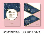 golden line and blue marble... | Shutterstock .eps vector #1140467375