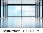 front big hall and wide window...   Shutterstock . vector #1140471275