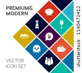 modern  simple vector icon set... | Shutterstock .eps vector #1140472412