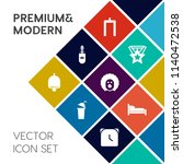 modern  simple vector icon set... | Shutterstock .eps vector #1140472538