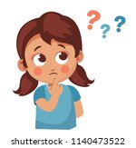 cute little girl asking... | Shutterstock .eps vector #1140473522