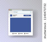 a browser window with an open... | Shutterstock .eps vector #1140473732