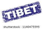 tibet stamp seal print with... | Shutterstock .eps vector #1140475595