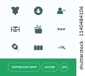 modern  simple vector icon set... | Shutterstock .eps vector #1140484106