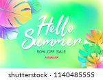 summer sale background layout... | Shutterstock .eps vector #1140485555