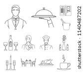 restaurant and bar outline... | Shutterstock . vector #1140487202