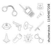 police  department outline... | Shutterstock . vector #1140487208