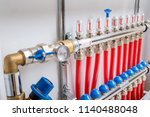 supply and return lines of the... | Shutterstock . vector #1140488048