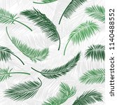 tropical green palm tree leaves ... | Shutterstock .eps vector #1140488552