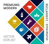 modern  simple vector icon set... | Shutterstock .eps vector #1140497258