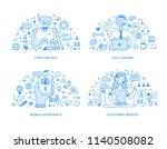 collection of customer support  ... | Shutterstock .eps vector #1140508082