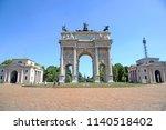 milan   italy july 22 2018 arch ... | Shutterstock . vector #1140518402