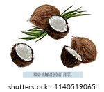 beautiful hand drawn botanical...   Shutterstock .eps vector #1140519065