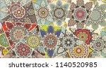 vector patchwork quilt pattern. ... | Shutterstock .eps vector #1140520985