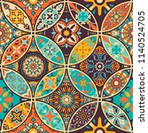 seamless colorful patchwork... | Shutterstock .eps vector #1140524705
