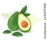 avocado green fruit | Shutterstock .eps vector #1140527498