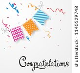 congratulations design with... | Shutterstock . vector #1140529748