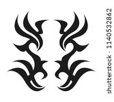 graphic tattoo design. stencil. ... | Shutterstock .eps vector #1140532862