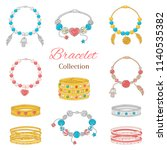 jewelry collection  vector... | Shutterstock .eps vector #1140535382