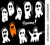 set of ghost characters... | Shutterstock .eps vector #1140536045