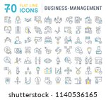 set of vector line icons of... | Shutterstock .eps vector #1140536165