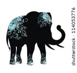 The Silhouette Of The Elephant