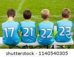 football soccer game for... | Shutterstock . vector #1140540305