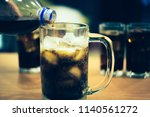 glass of soda waters or is a... | Shutterstock . vector #1140561272
