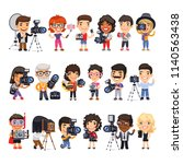 cartoon flat characters of... | Shutterstock .eps vector #1140563438