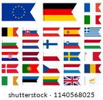 collection of flags from all... | Shutterstock .eps vector #1140568025