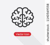 brain icon vector illustration... | Shutterstock .eps vector #1140569558