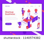 startup business teamwork... | Shutterstock .eps vector #1140574382