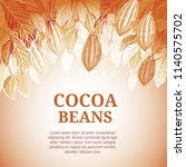 cacao beans plant  vector... | Shutterstock .eps vector #1140575702