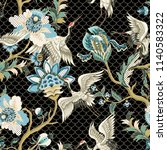 seamless pattern  with ethnic... | Shutterstock .eps vector #1140583322