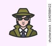 white female secret agent | Shutterstock .eps vector #1140588422