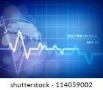 cardiogram background. eps 10. | Shutterstock .eps vector #114059002